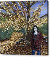 A Portrait Of The Artist's Mother In Autumn Acrylic Print