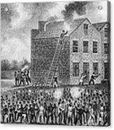 A Pro-slavery Mob Burning Acrylic Print by Everett