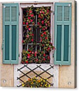 A Provence Window Acrylic Print