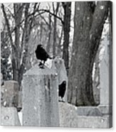 A Quiet Winter Day At The Graveyard Acrylic Print
