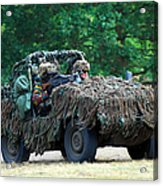 A Recce Unit Of The Belgian Army Acrylic Print