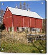 A Red Barn Acrylic Print