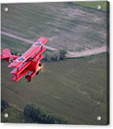 A Replica Fokker Dr. I, A Red Triplane Acrylic Print