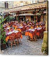 A Restaurant In Sarlat France Acrylic Print
