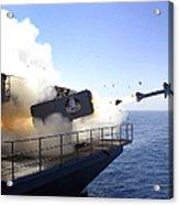 A Rim-7 Sea Sparrow Missile Launches Acrylic Print