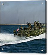 A Riverine Command Boat During Exercise Acrylic Print