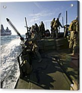 A Riverine Squadron Conducts Security Acrylic Print