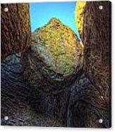 A Rock Balanced Precariously Acrylic Print