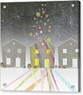 A Row Of Houses Acrylic Print by Jutta Kuss