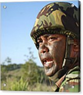 A Royal Brunei Land Force Soldier Acrylic Print