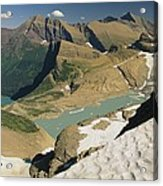 A Scenic View Of Lakes In Glacier Acrylic Print