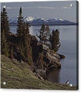 A Scenic View Of Yellowstone Lake Acrylic Print