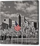 A Sea Of #flags During #marineweek Acrylic Print by Pete Michaud