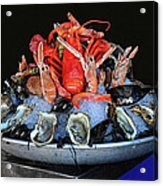 A Seafood Orgy Acrylic Print