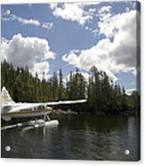 A Seaplane Taking Off From Vancouver Acrylic Print