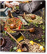 A Selection Of Olives Sit Acrylic Print