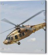 A Sikorsky Uh-60 Black Hawk Yanshuf Acrylic Print