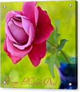 A Single Rose II Mother's Day Card Acrylic Print