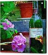 A Sip Of Wine Acrylic Print by Amanda Moore