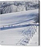 A Snowy Field Acrylic Print