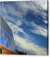 A Solar Panel In The Desert Of South Acrylic Print