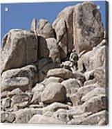 A Soldier Climbs A Mountain Acrylic Print