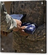 A Soldier Is Presented The American Acrylic Print