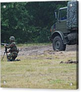 A Soldier Of The Belgian Artillery Unit Acrylic Print