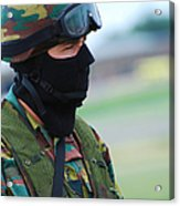A Soldier Of The Special Forces Group Acrylic Print by Luc De Jaeger