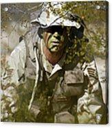A Soldier Practices Evasion Maneuvers Acrylic Print