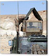 A Soldiier Instructs An Iraqi Army Acrylic Print