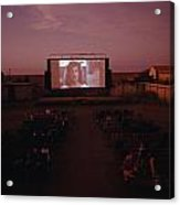 A Sparse Audience Watches A Film Acrylic Print by Sam Abell