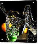 A Splash In The Glass Acrylic Print