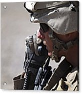 A Squad Leader Puts His Marines Acrylic Print