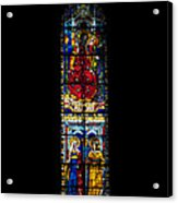 A Stained Glass Window Lit By The Day Acrylic Print