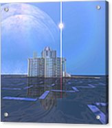 A Star Shines On Alien Architecture Acrylic Print