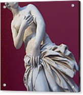A Statue Of Aphrodite At The Acropolis Acrylic Print by Richard Nowitz