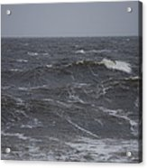 A Storm Lashed Hudsons Bay In Autumn Acrylic Print