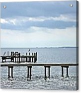 A Stormy Day On The Pamlico River Acrylic Print