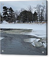 A Stream In Ice Acrylic Print