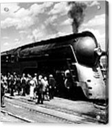 A Streamliner Train In Albany, New Acrylic Print