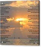 A Sunset A Poem - Victor Hugo Acrylic Print
