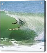 A Surfer Shoots The Curl Acrylic Print