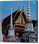 A Temple In A Wat Monestry In Tahiland Acrylic Print