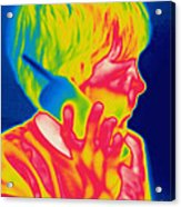 A Thermogram Of A Boy Talking Acrylic Print