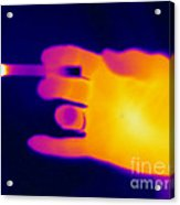 A Thermogram Of A Lit Cigarette Acrylic Print by Ted Kinsman
