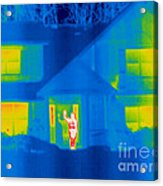 A Thermogram Of A Person Waving In House Acrylic Print