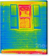 A Thermogram Of A Window Acrylic Print