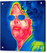 A Thermogram Of A Woman With Glasses Acrylic Print