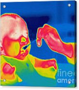 A Thermogram Of Feeding A Baby Acrylic Print
